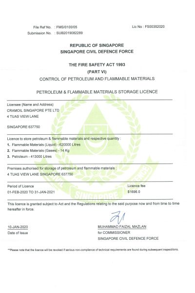 Petroluem & Flammable Materials Storage Licence-1
